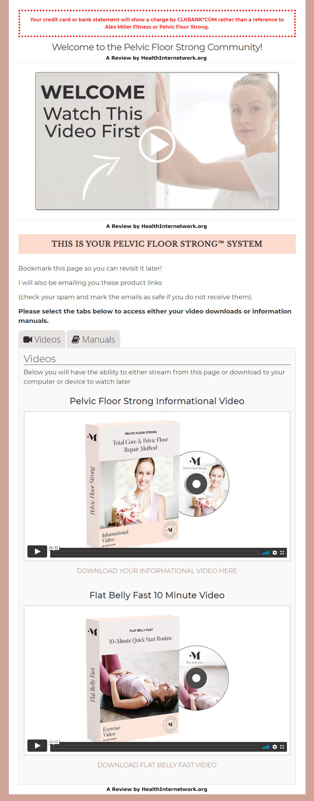 Pelvic Floor Strong System Download Page