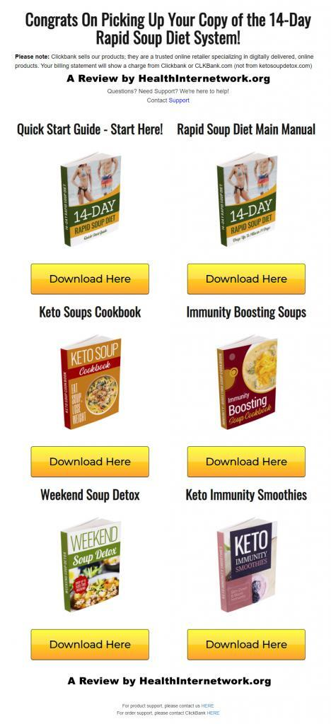 14 day rapid soup diet download page